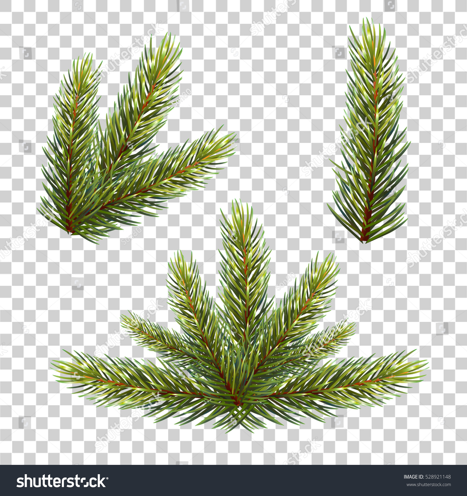christmas tree branch vector - photo #47