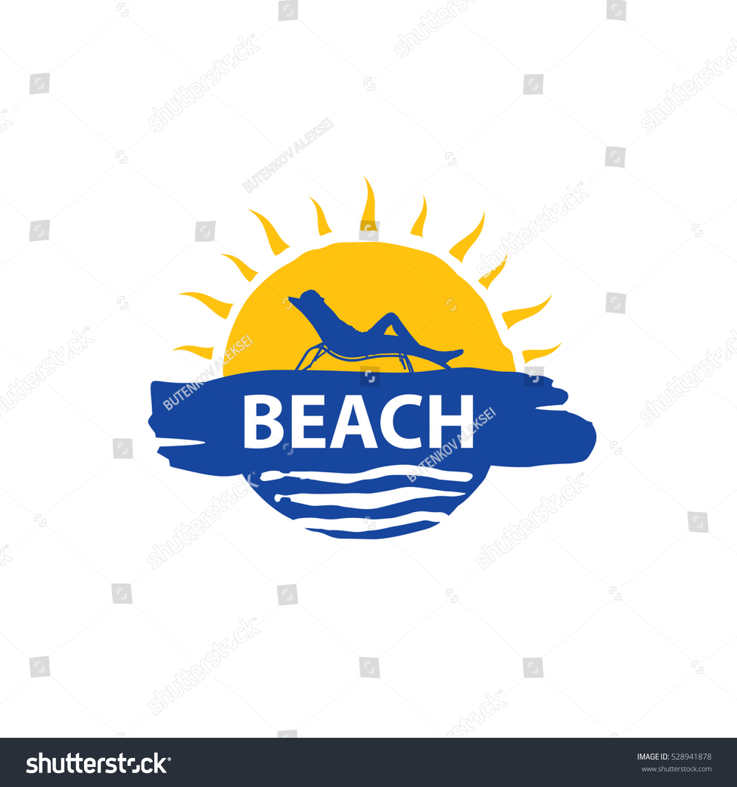 Vector Logo Beach Stock Vector 528941878 - Shutterstock