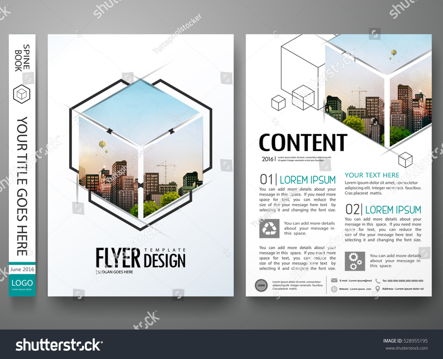 portfolio design template vector minimal brochure report のベクター