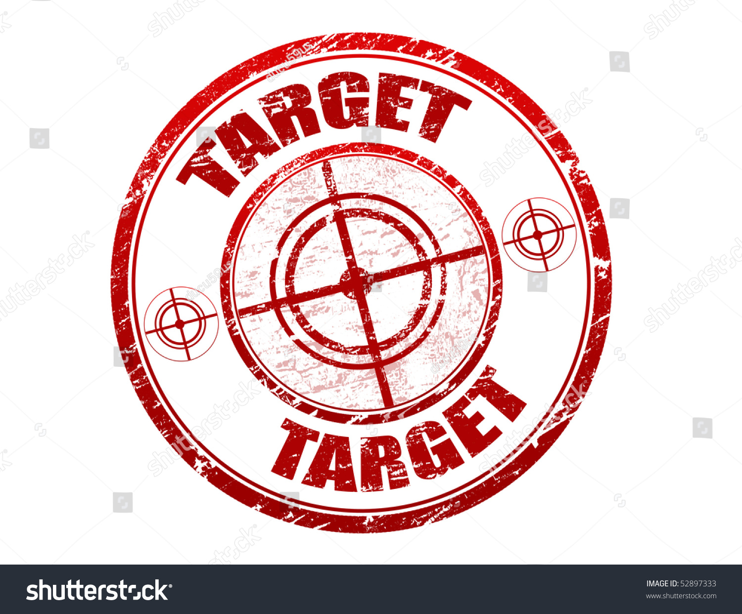 Abstract Red Grunge Office Rubber Stamp With Target Sign ...
