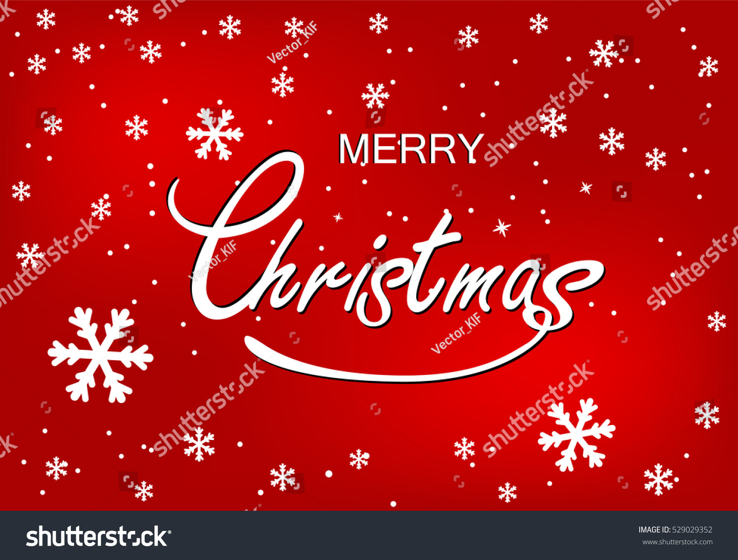 Merry christmas greeting postcard white snowflakes stock vector merry christmas greeting postcard white snowflakes and greeting words on red background m4hsunfo