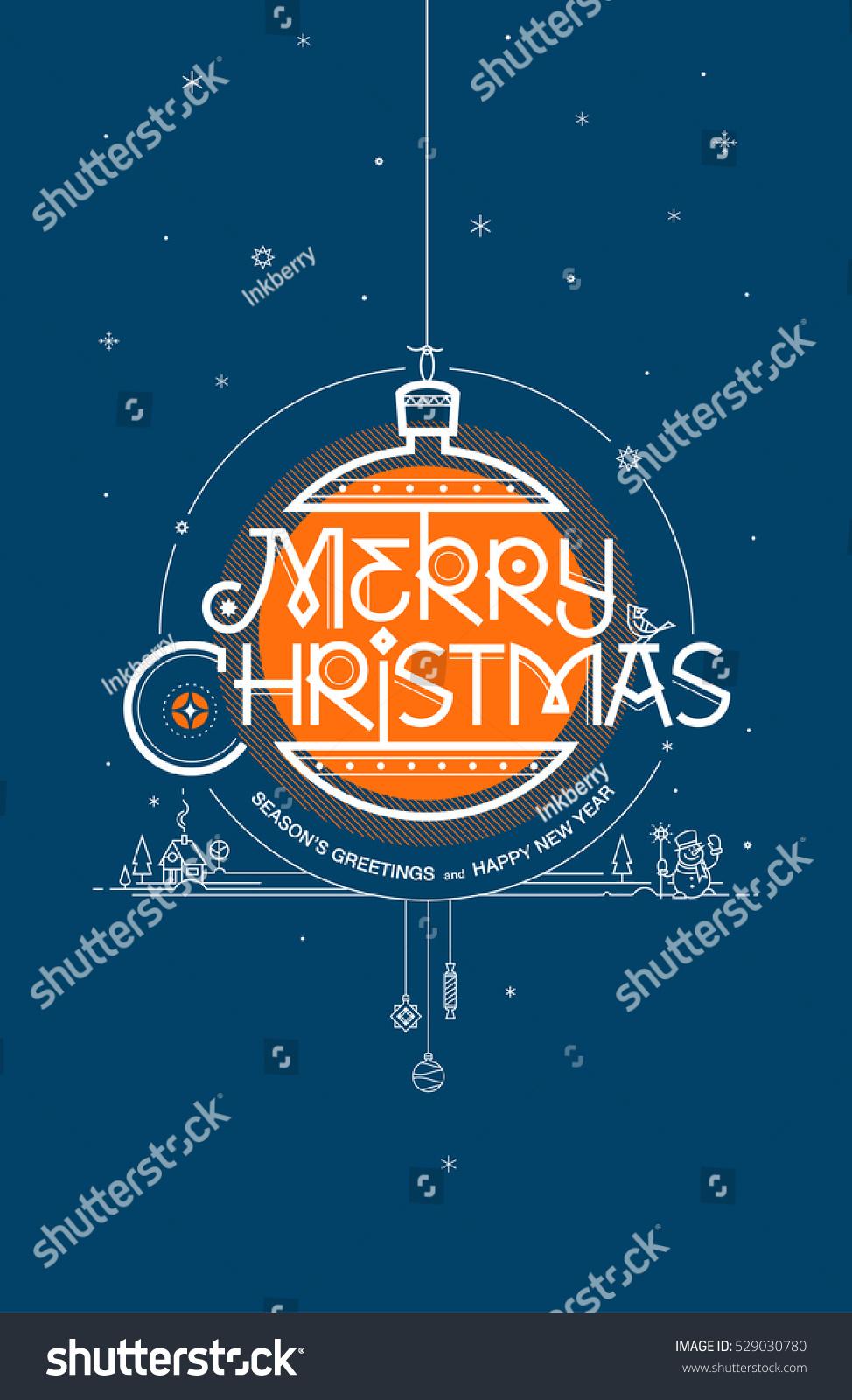 Merry christmas seasons greetings happy new stock vector 529030780 merry christmas seasons greetings and happy new year greeting card vector illustration kristyandbryce Choice Image