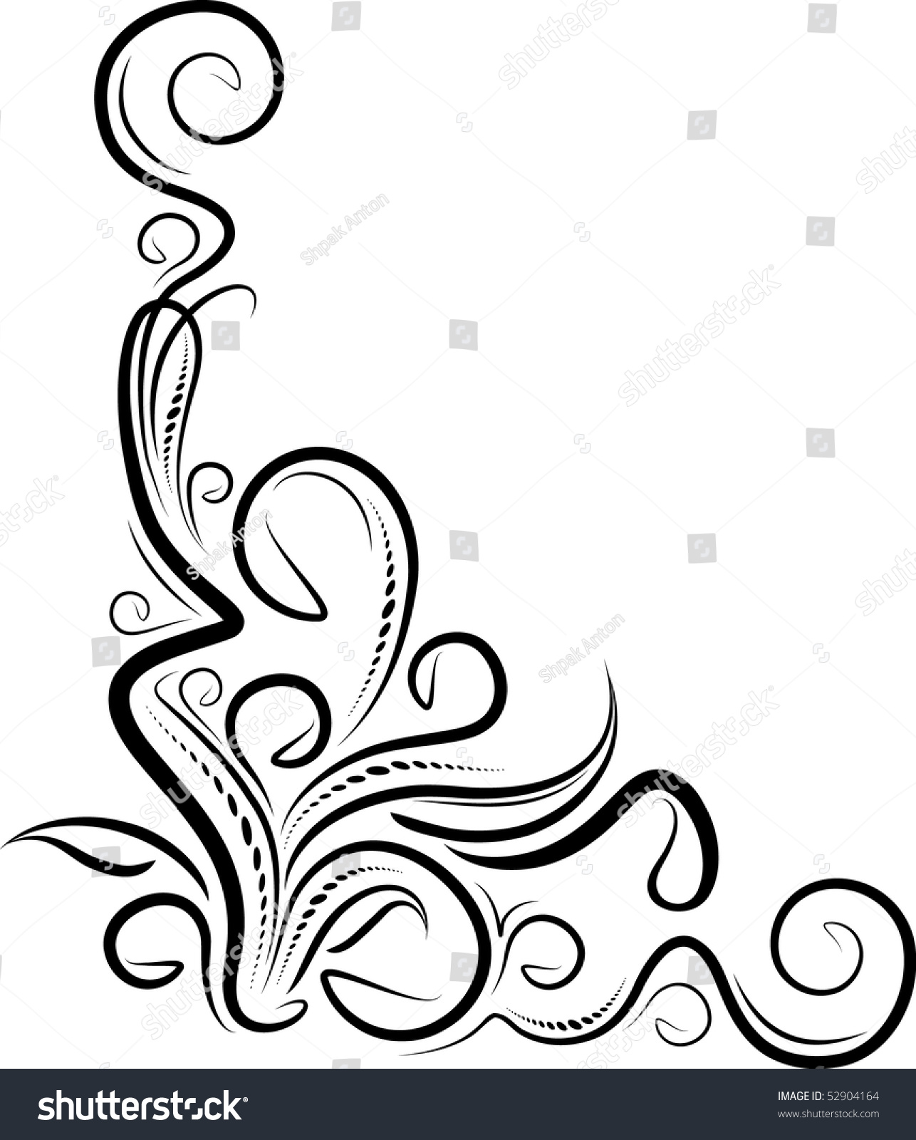 Decorative Corner. Stock Vector Illustration 52904164 ...