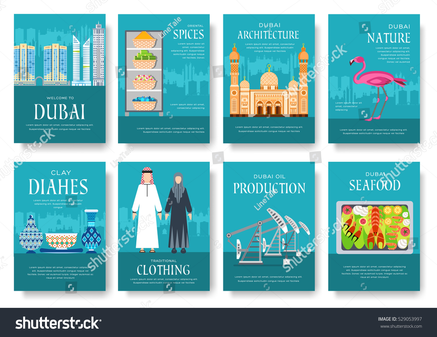 dubai vector brochure cards set country template of flyear layout architecture illustrations modern page dubai vector brochure cards set country template of flyear magazines posters book