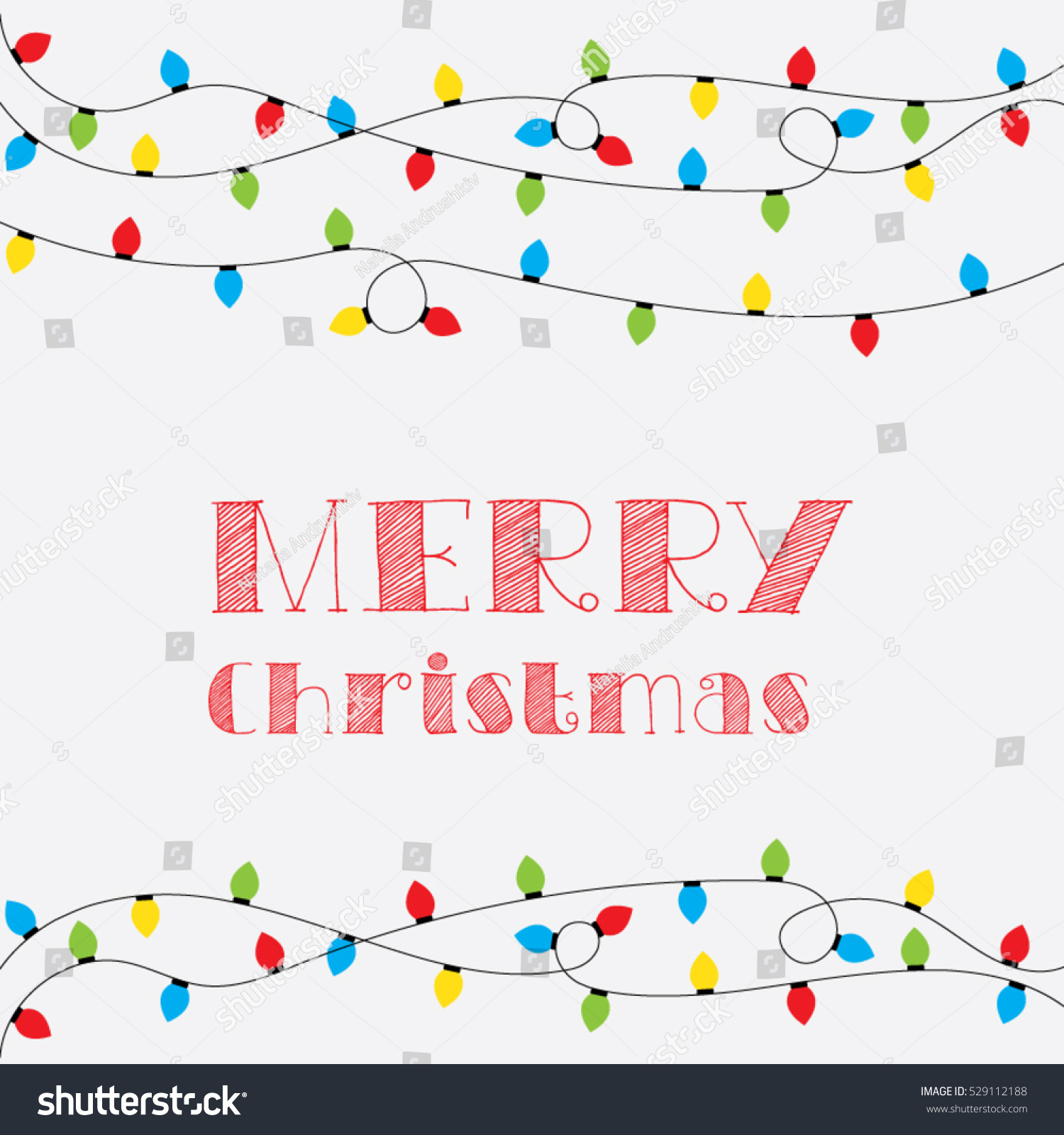 Christmas card vector clipart illustration festive stock photo christmas card vector clipart illustration festive winter greeting postcard design with christmas lights and m4hsunfo
