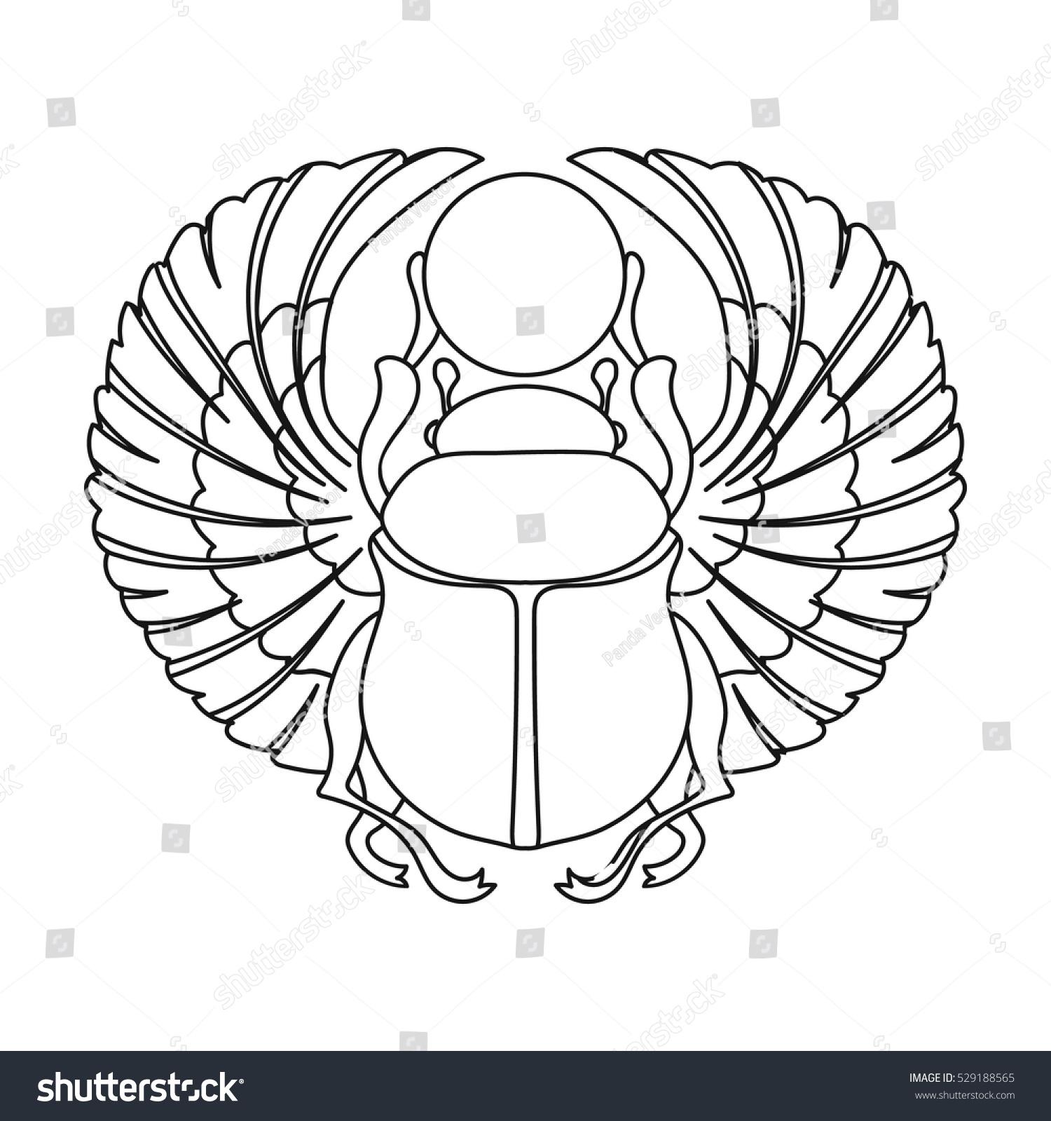 Scarab icon outline style isolated on stock vector 529188565 scarab icon in outline style isolated on white background ancient egypt symbol stock vector illustration buycottarizona