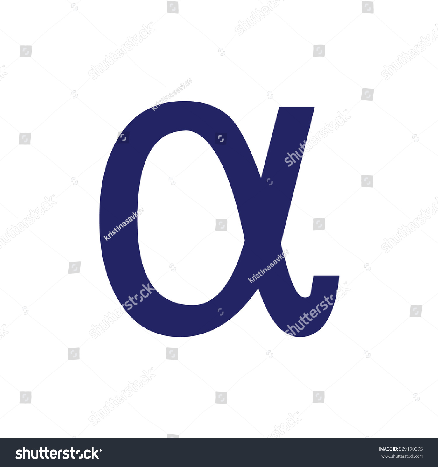 Blue alpha letter vector icon greek stock vector 529190395 blue alpha letter vector icon the greek alphabet biocorpaavc Gallery