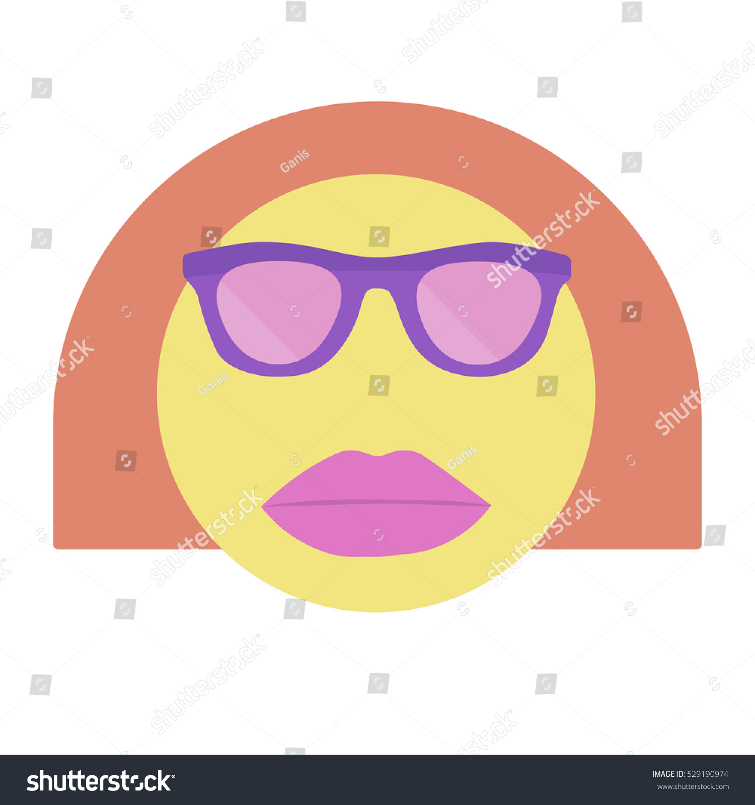 Smile. Smiley Woman In Sunglasses With Lipstick.Vector