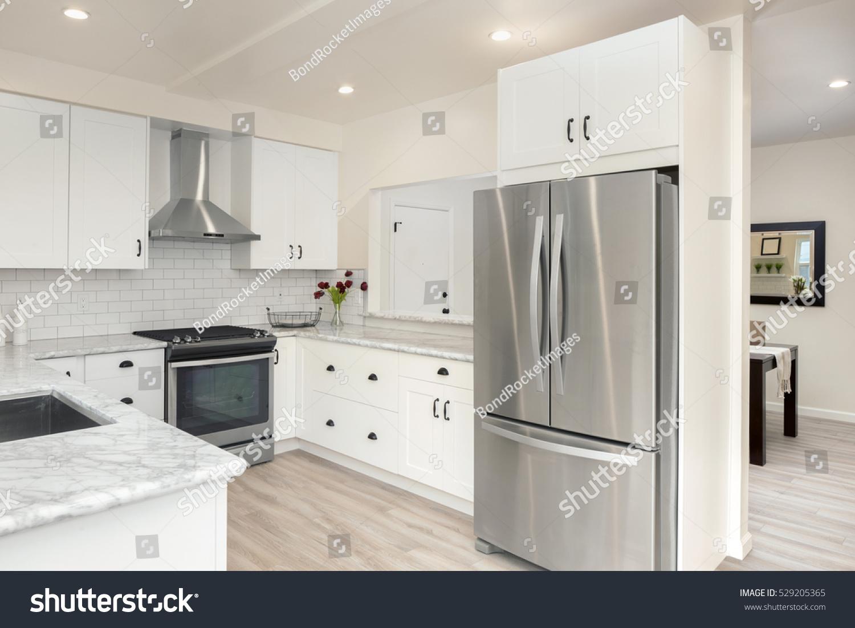 Modern Bright Clean Kitchen Interior Stainless Stock Photo Edit Now