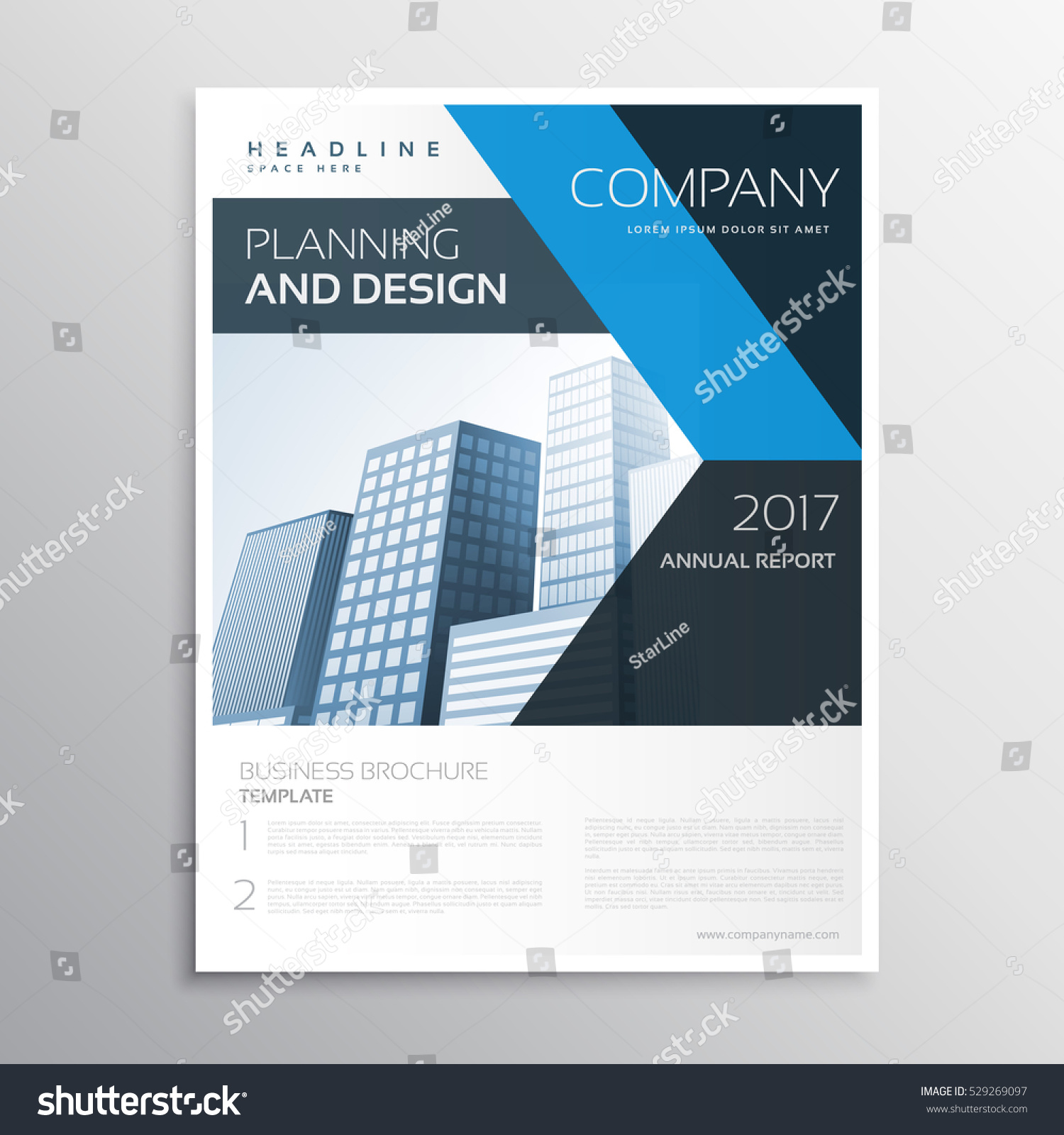 Corporate Brand Business Leaflet Brochure Template Stock Vector ...