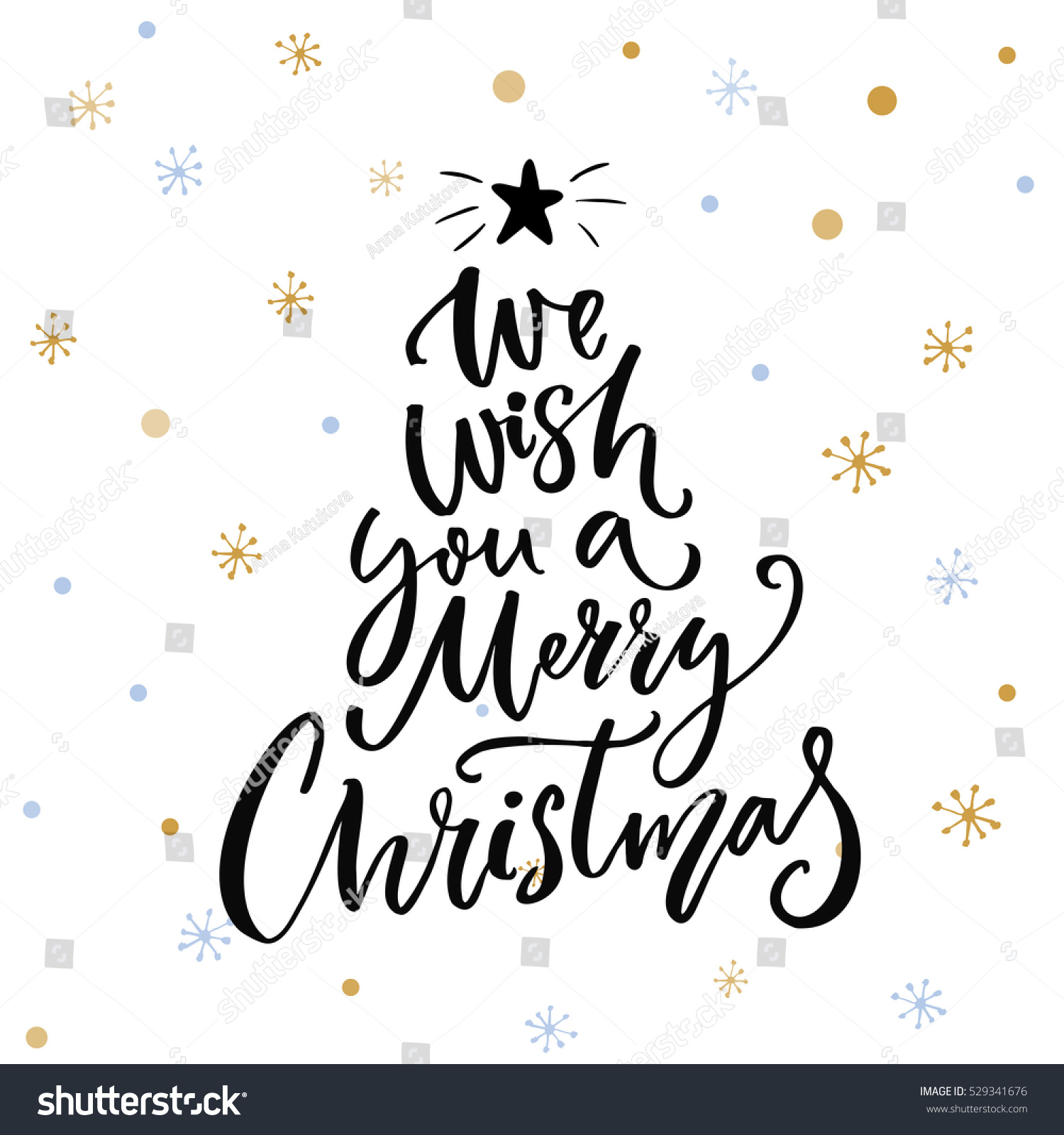 We Wish You Merry Christmas Ornate Stock Vector (Royalty Free ...