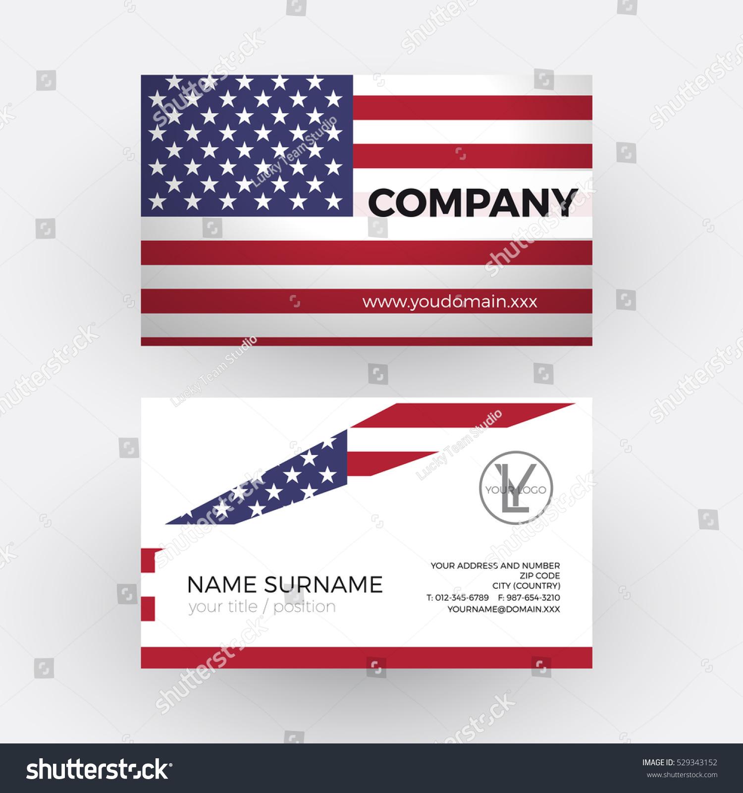 Pretty American Flag Business Cards Photos - Business Card Ideas ...
