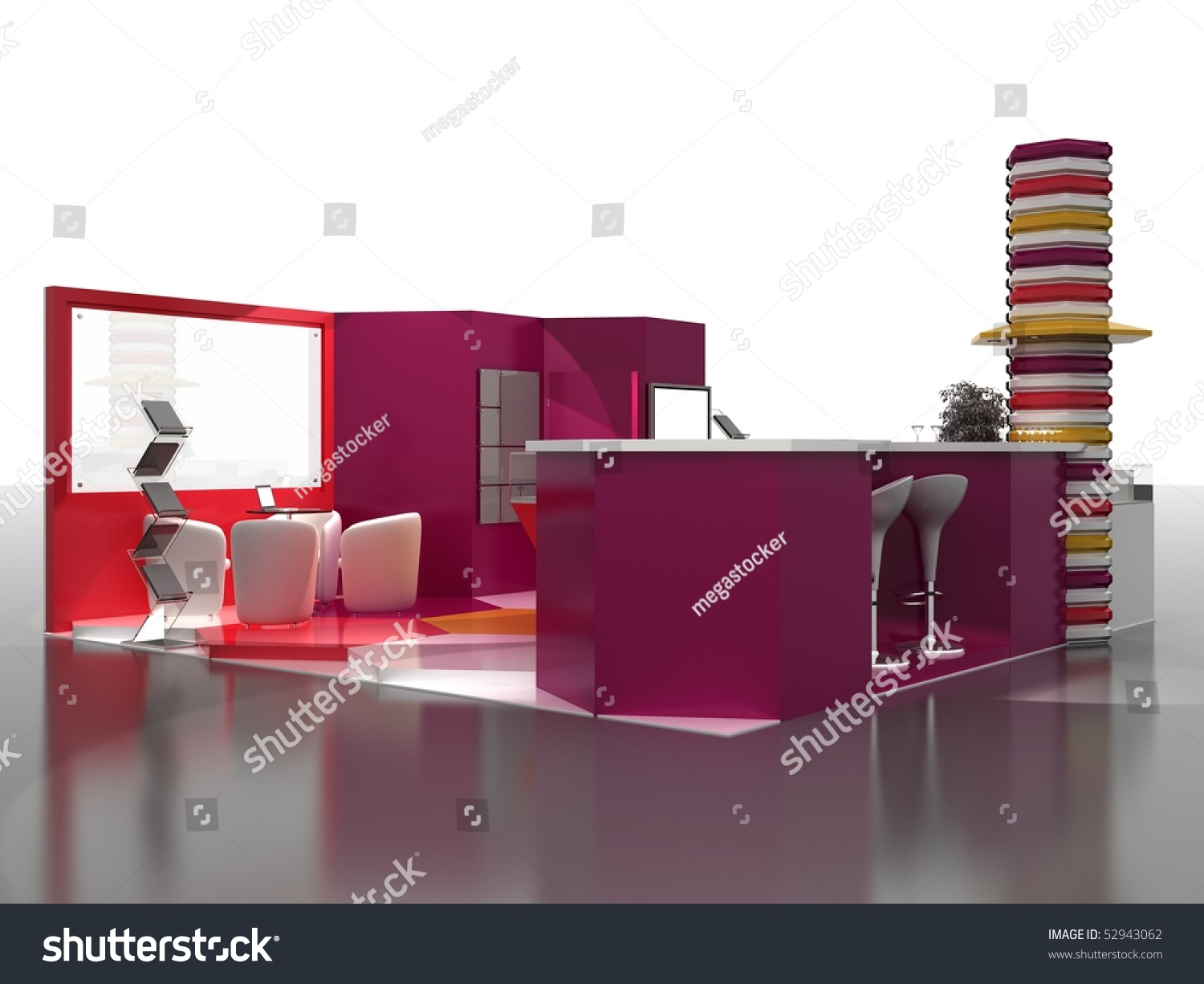 Exhibition Stand Interiors : Exhibition stand interior sample interiors series stock
