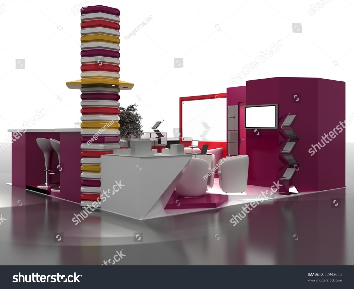 Simple Exhibition Stand Examples : Exhibition stand interior sample interiors series stock