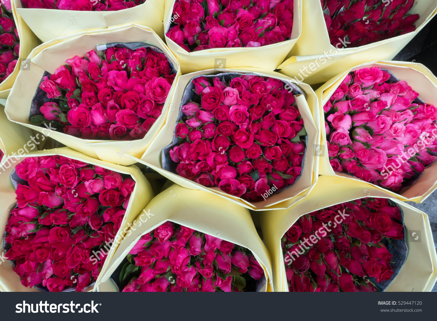 Bouquet Roses Wrapped Paper Sale Pak Stock Photo Edit Now