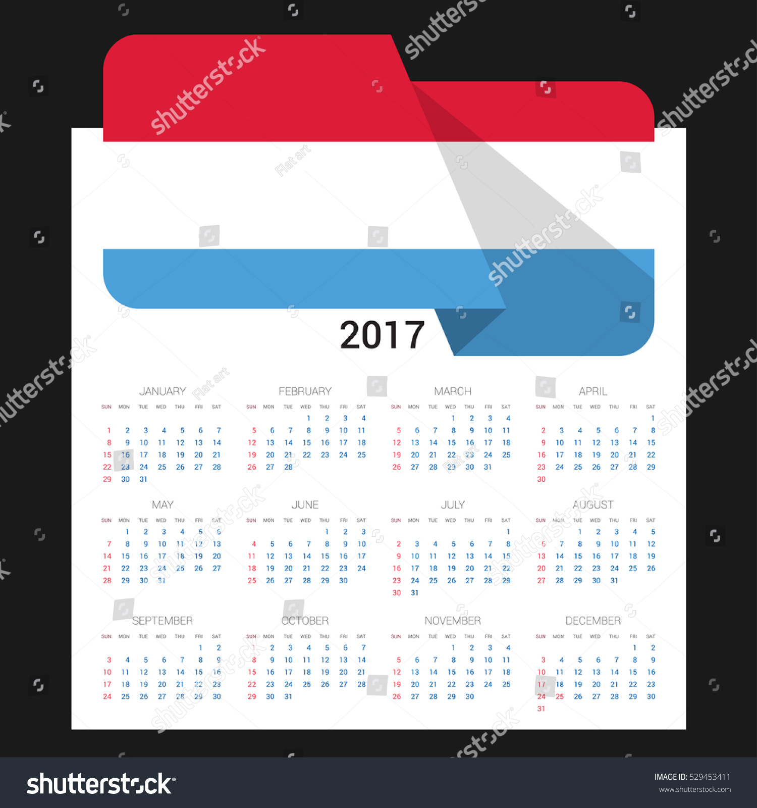 Calendar grid 2017 luxembourg flag on stock vector 529453411 calendar grid for 2017 with luxembourg flag on 2017 national flag on a black background biocorpaavc Image collections