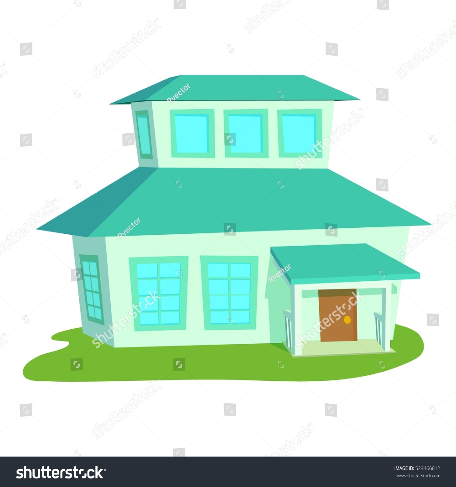 Big House Icon Cartoon Illustration Big Stock Vector - Big cartoon house