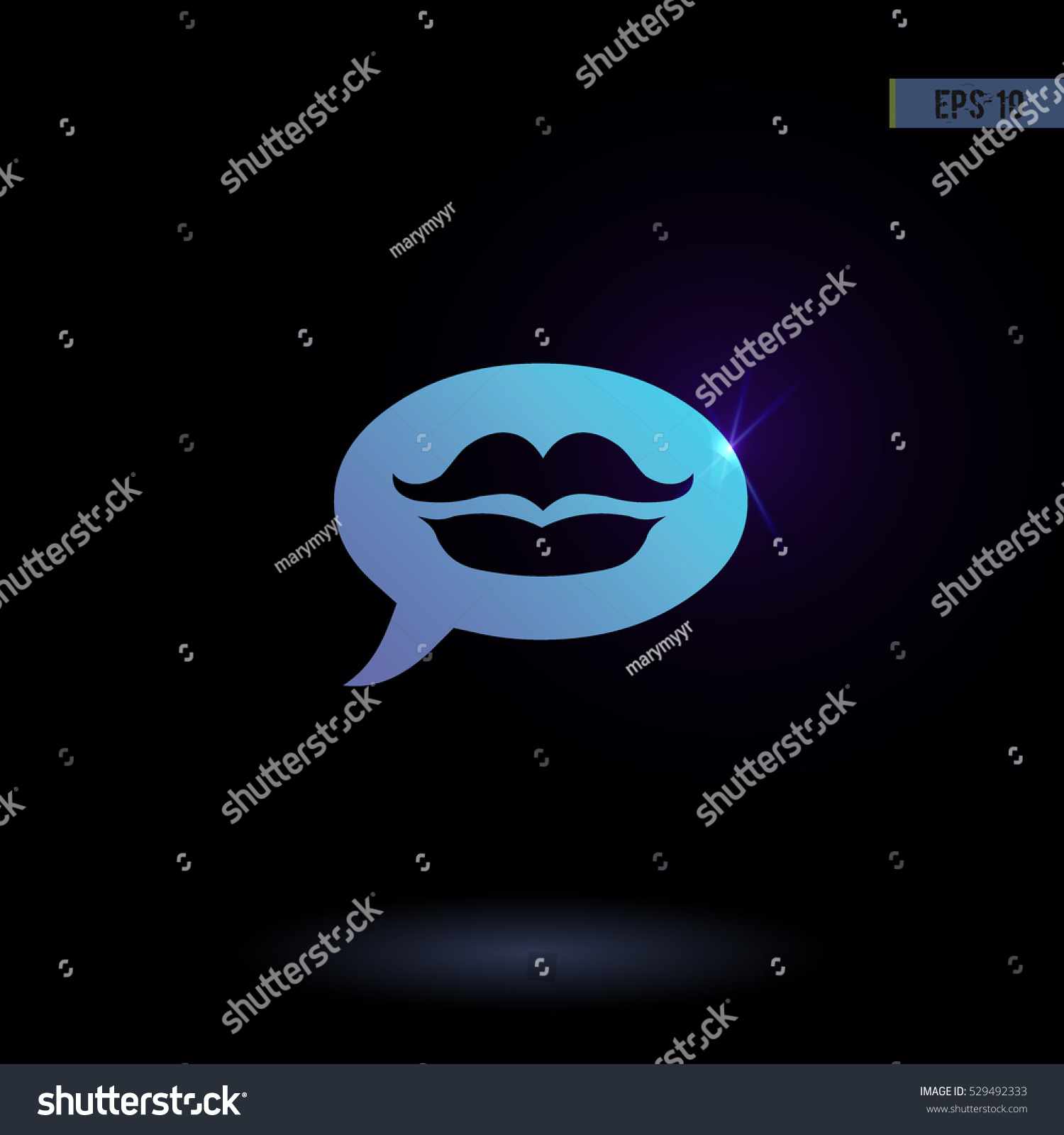 Message With A Kiss Vector Icon Graphic Symbol For Web Design Logo