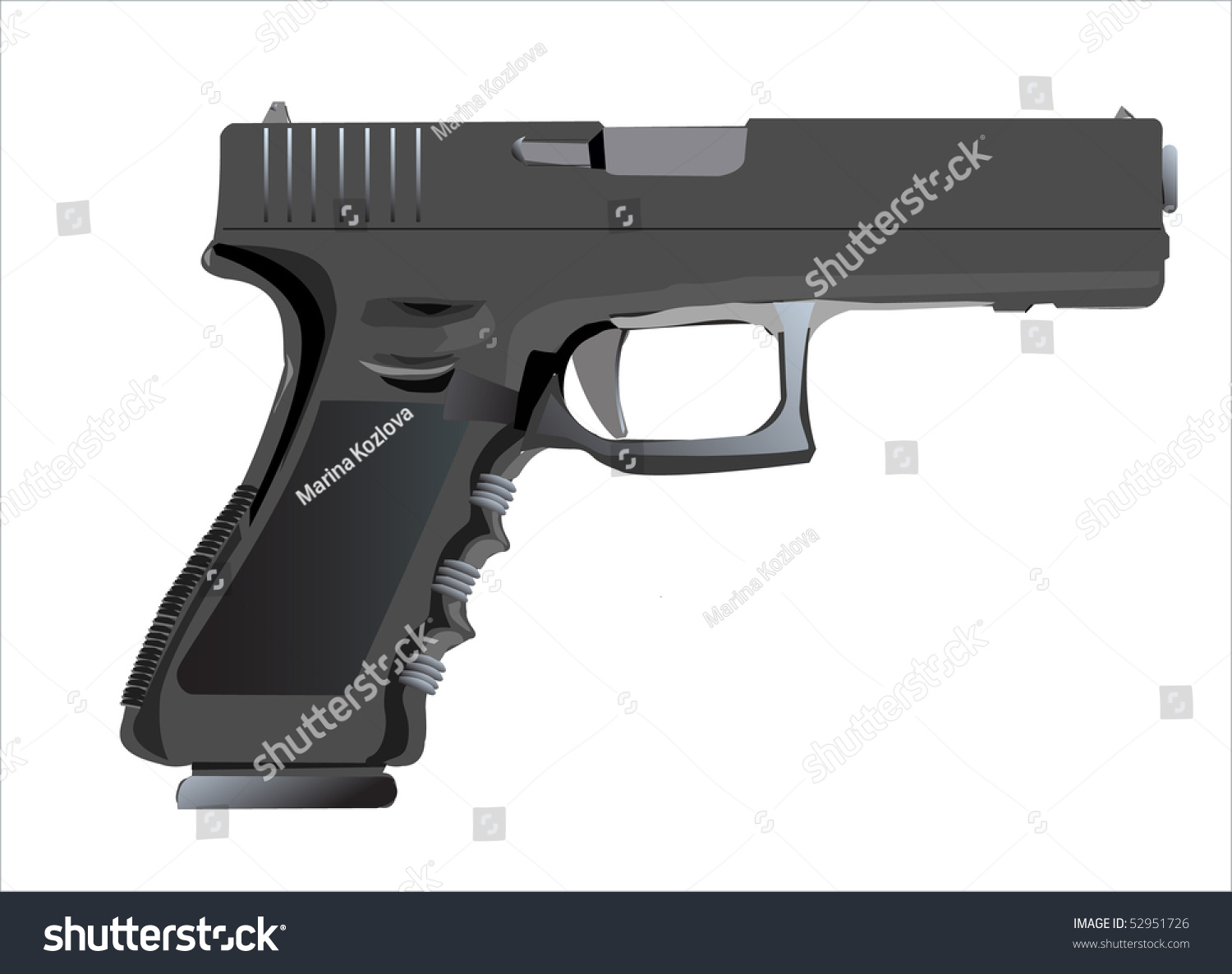 gun white background - photo #26