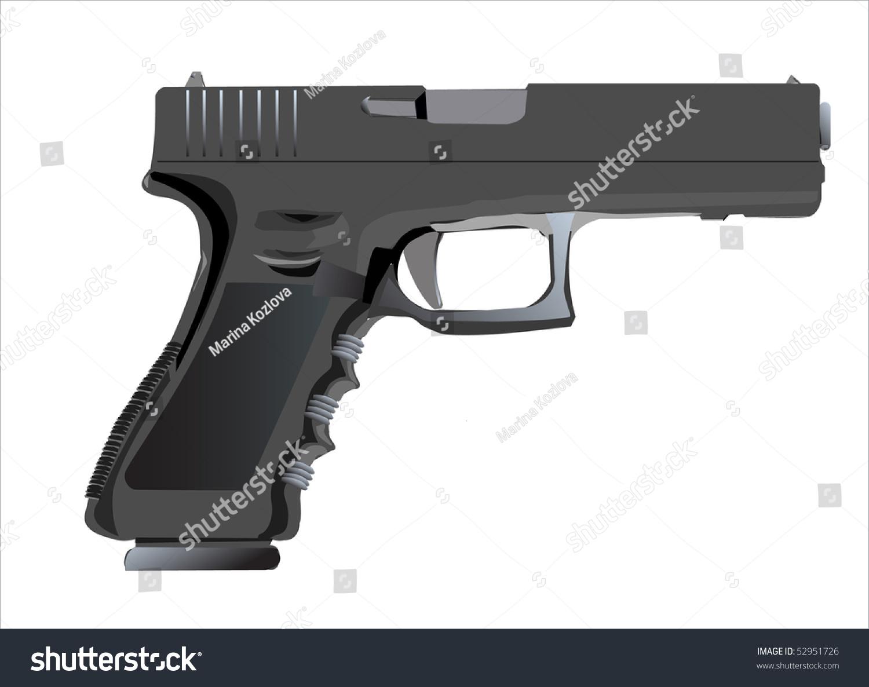 gun white background - photo #26