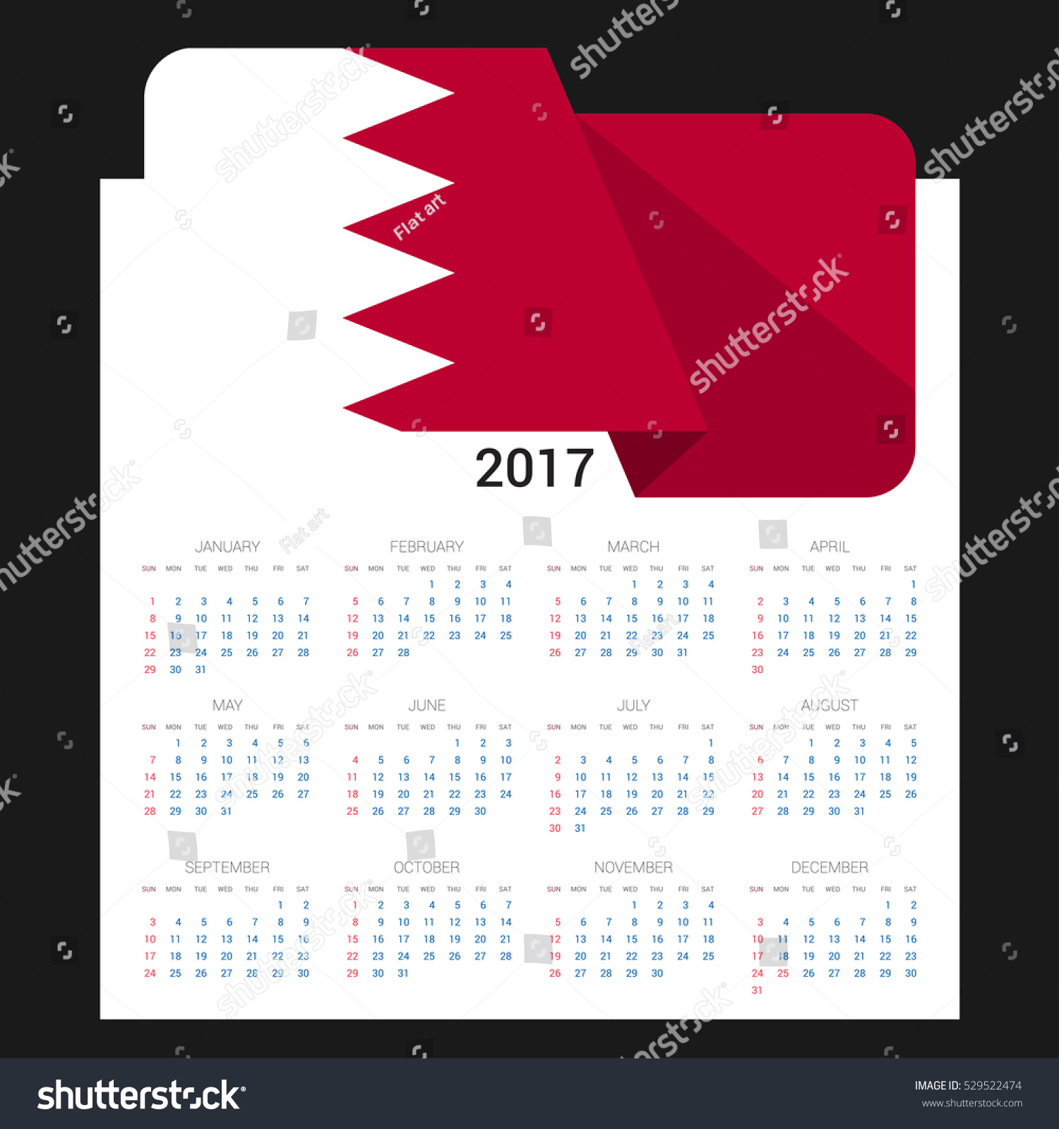 Calendar grid 2017 bahrain flag on stock vector 529522474 calendar grid 2017 bahrain flag on stock vector 529522474 shutterstock biocorpaavc Image collections