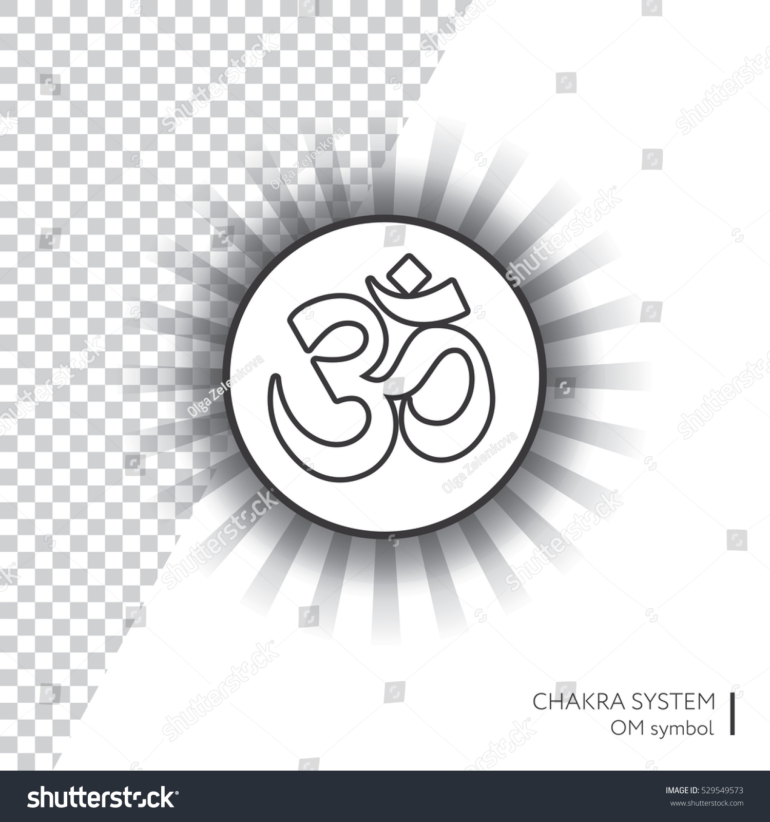 Symbol om vector isolated minimalistic icon stock vector 529549573 symbol om vector isolated minimalistic icon with transparent aura for yoga studio banner biocorpaavc Images