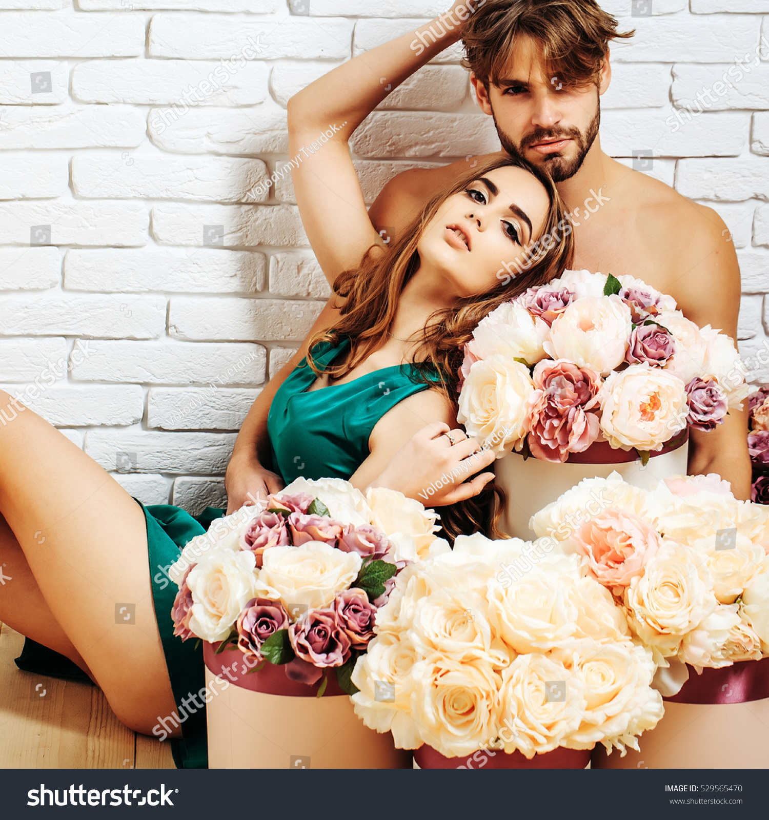Sexy Couple Young Beautiful Cute Lovers Stock Photo -2328