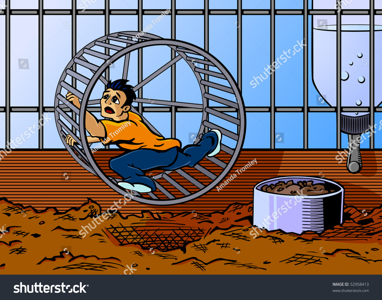 Hamster Wheel Cartoon