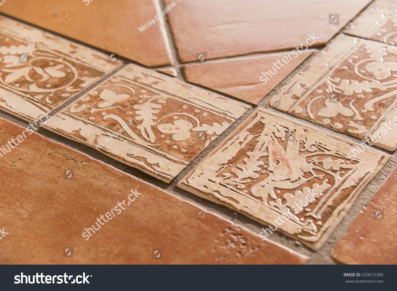 Detail mediterranean style terracotta floor tiles stock photo detail of mediterranean style terracotta floor tiles dailygadgetfo Gallery