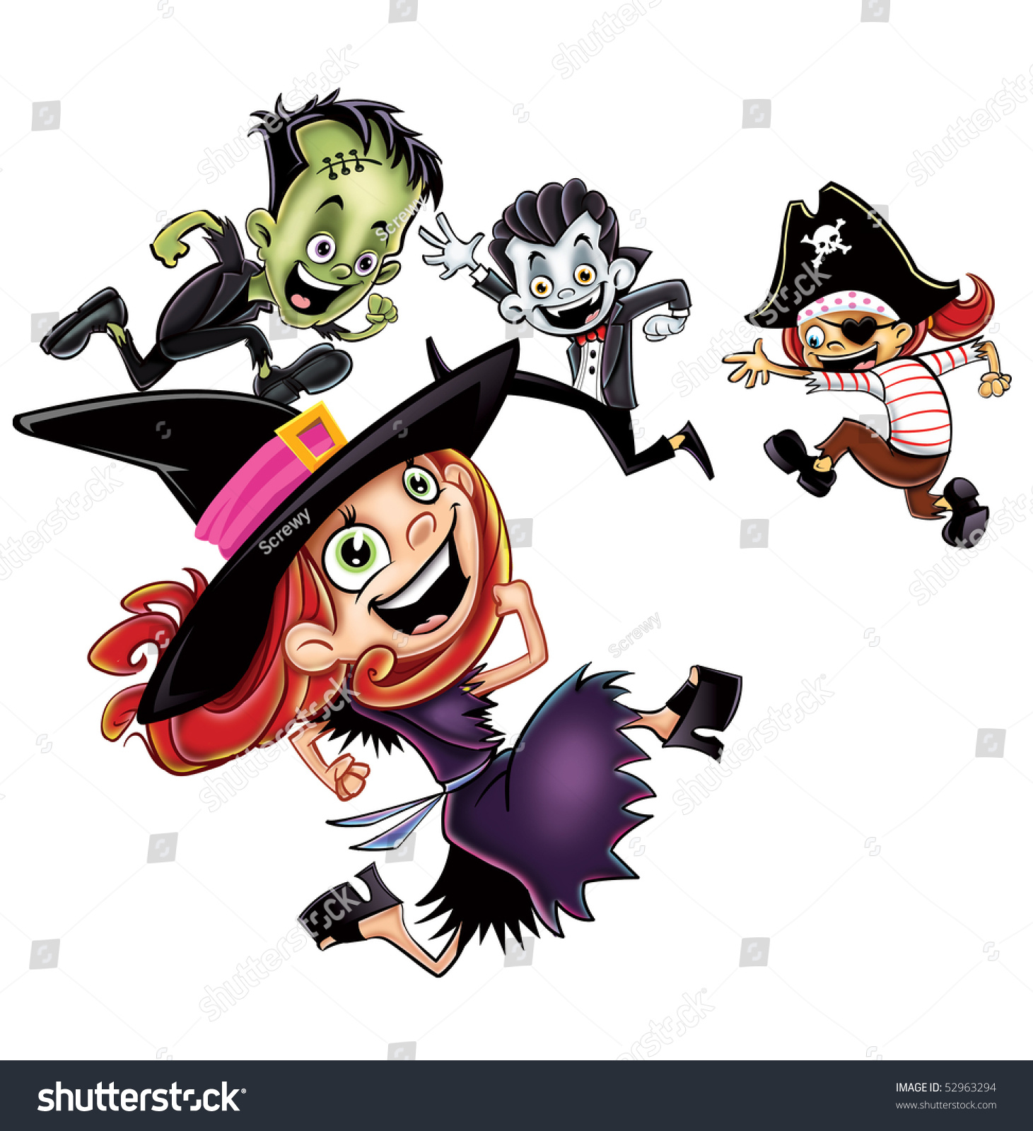 halloween kids dancing isolated - Dancing Halloween