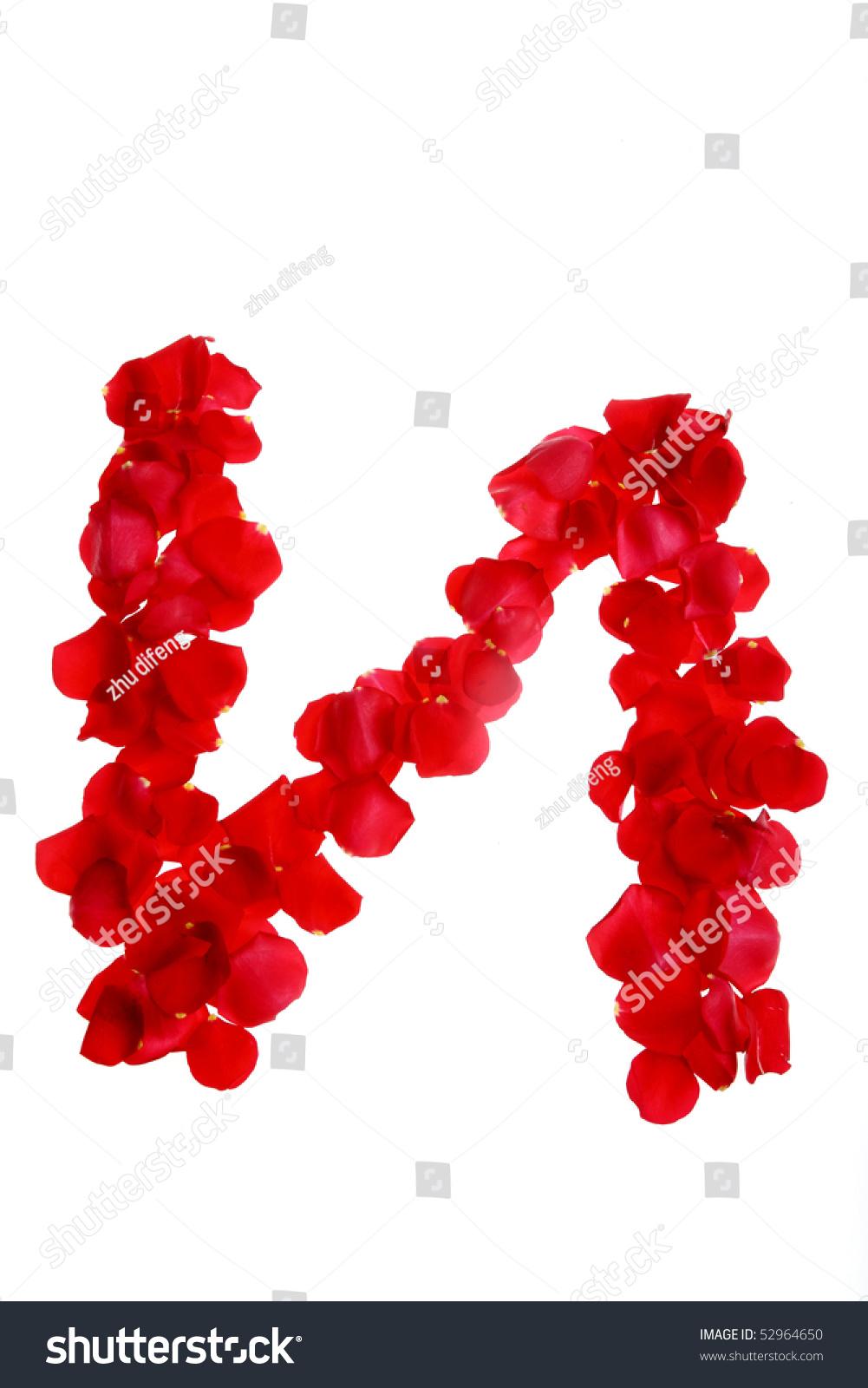 Alphabet N Made From Rose Stock Photo 52964650 : Shutterstock