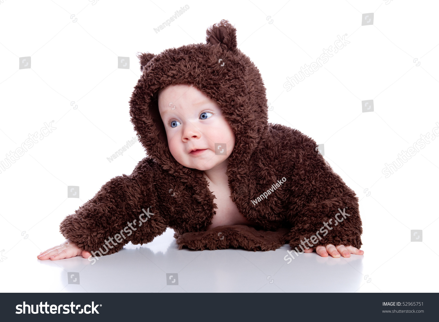 baby child in teddy-bear costume  sc 1 st  Shutterstock & Baby Child Teddybear Costume Stock Photo (Royalty Free) 52965751 ...