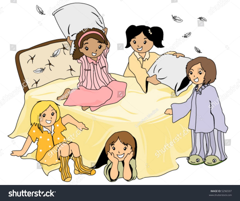 Pajama Party Vector Stock Vector 5296597 - Shutterstock