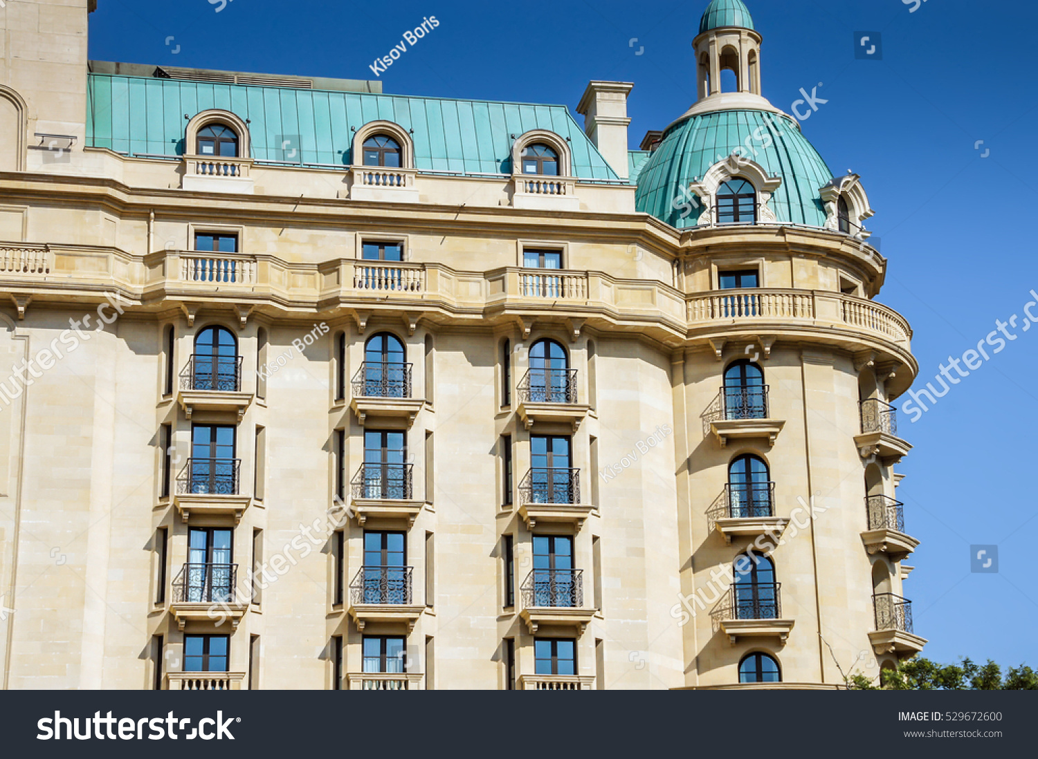 Historical Hotel Building With Cozy Accommodation In European City Old