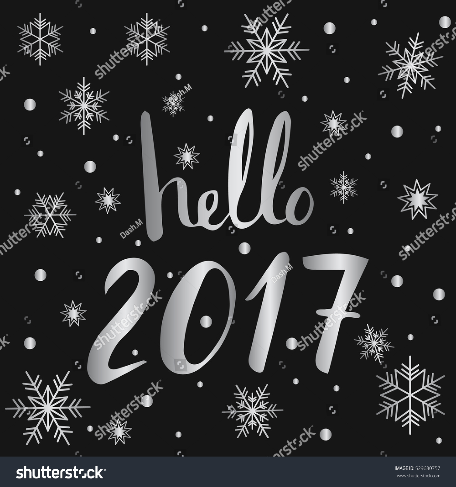 Hello 2017 new year lettering greeting stock vector 529680757 hello 2017 new year lettering for greeting card calendar kristyandbryce Images