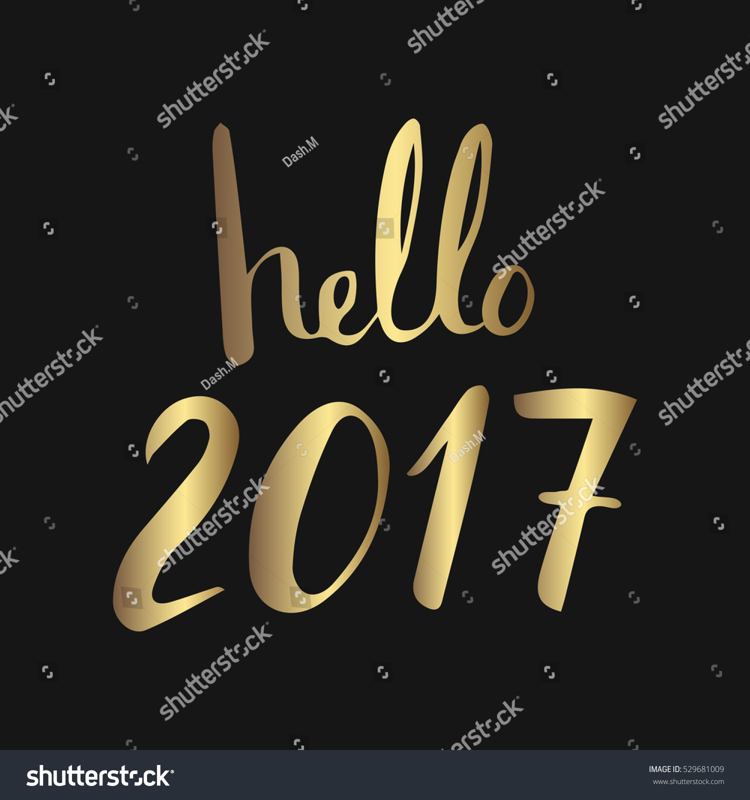 Hello 2017 new year lettering greeting stock vector 529681009 hello 2017 new year lettering for greeting card calendar kristyandbryce Images