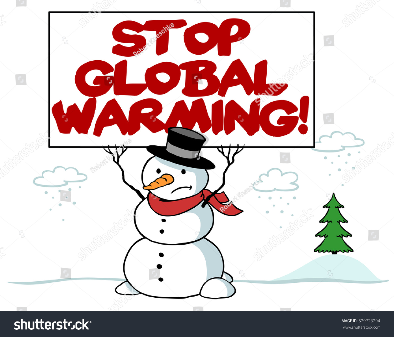 Worksheet Snowman Reading snowman sign reading stop global warming stock illustration with warming
