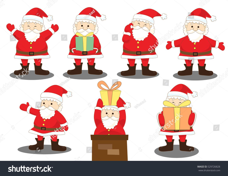santa claus activities santa joy action with gift vector illustration - Santa Claus Activities