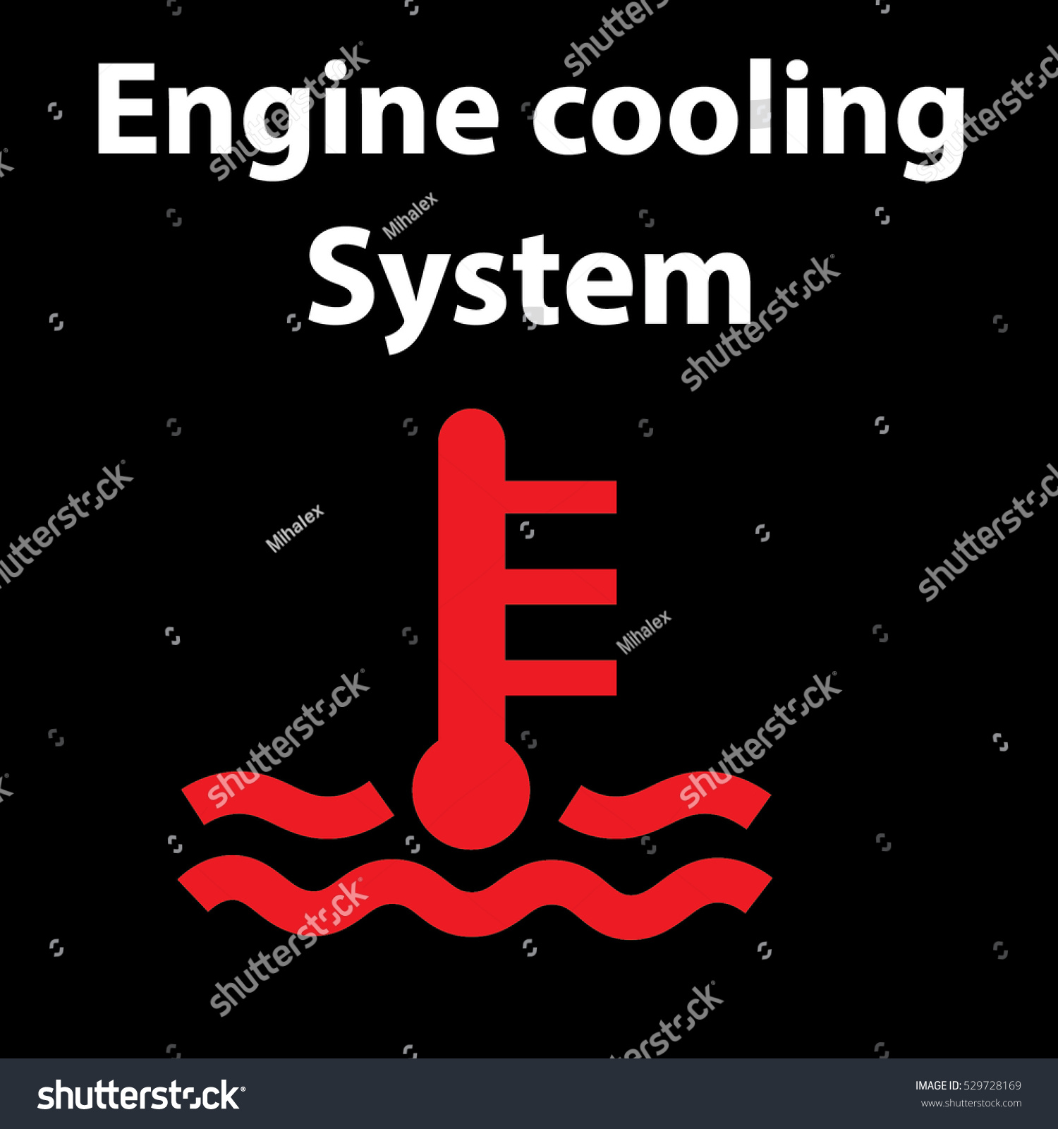 Kuhler liquid engine cooling system icon stock vector 529728169 kuhler liquid engine cooling system icon dashboard warning signs instrument cluster car hazard biocorpaavc