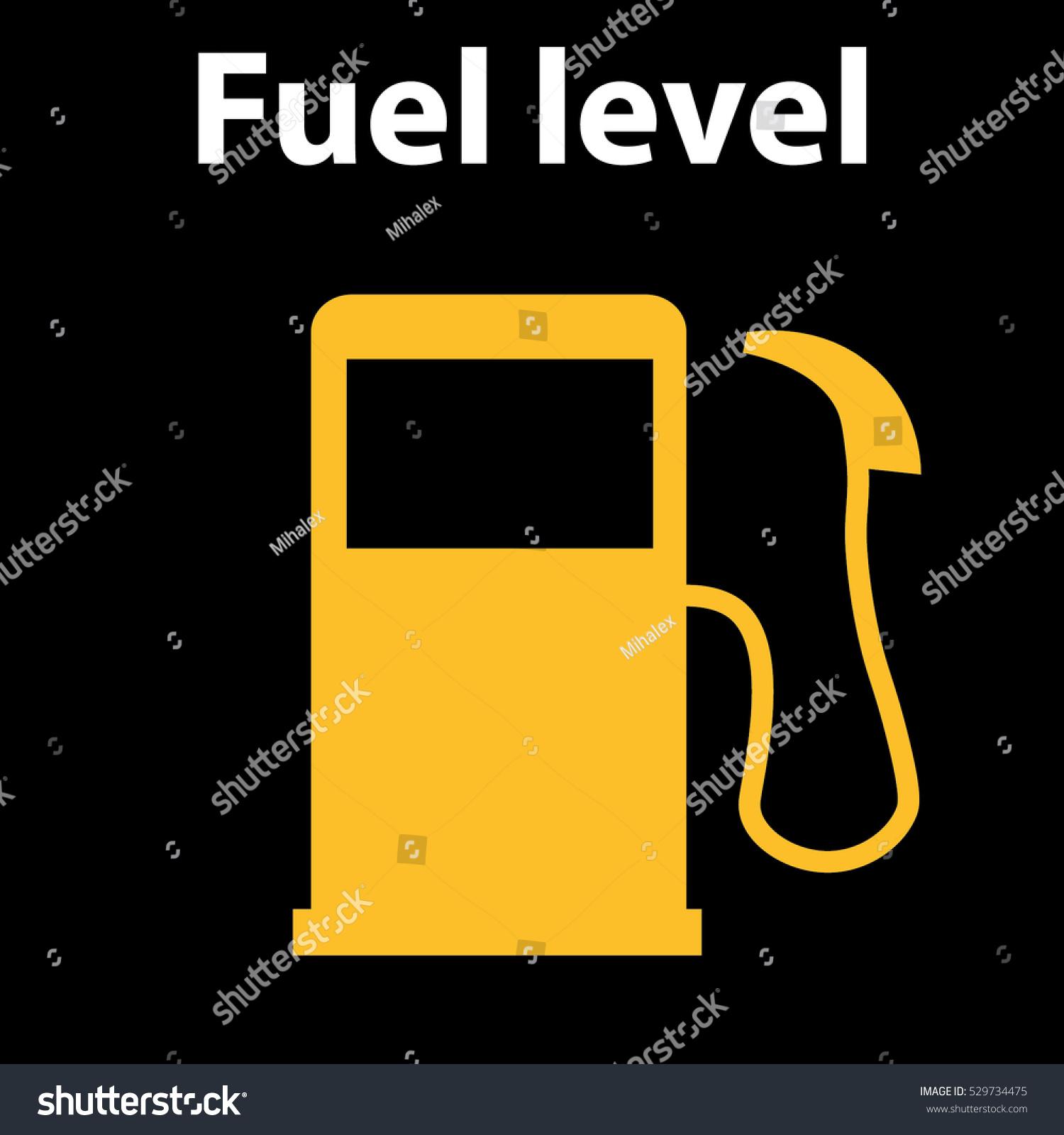 Empty Fuel Warning Light Car Dashboard Stock Vector 529734475