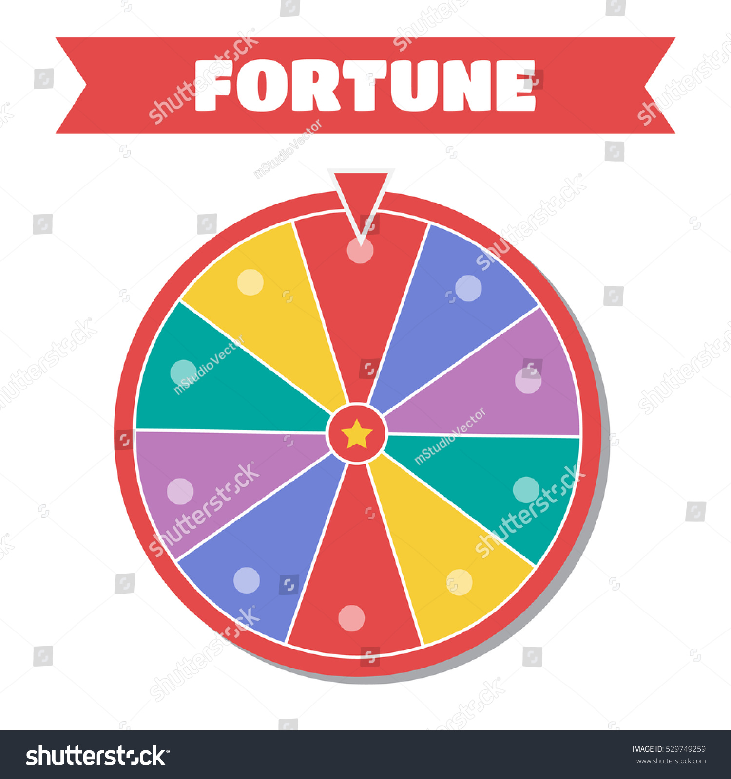 wheel fortune vector illustration wheel fortune stock vector 529749259 shutterstock. Black Bedroom Furniture Sets. Home Design Ideas