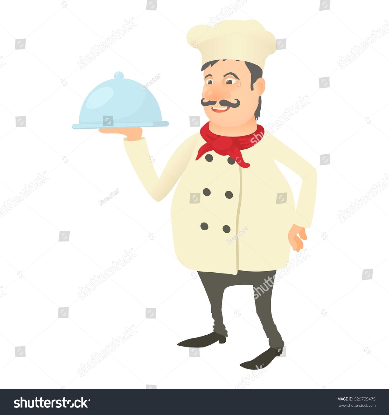 chef dish icon cartoon illustration chef stock vector 529755475