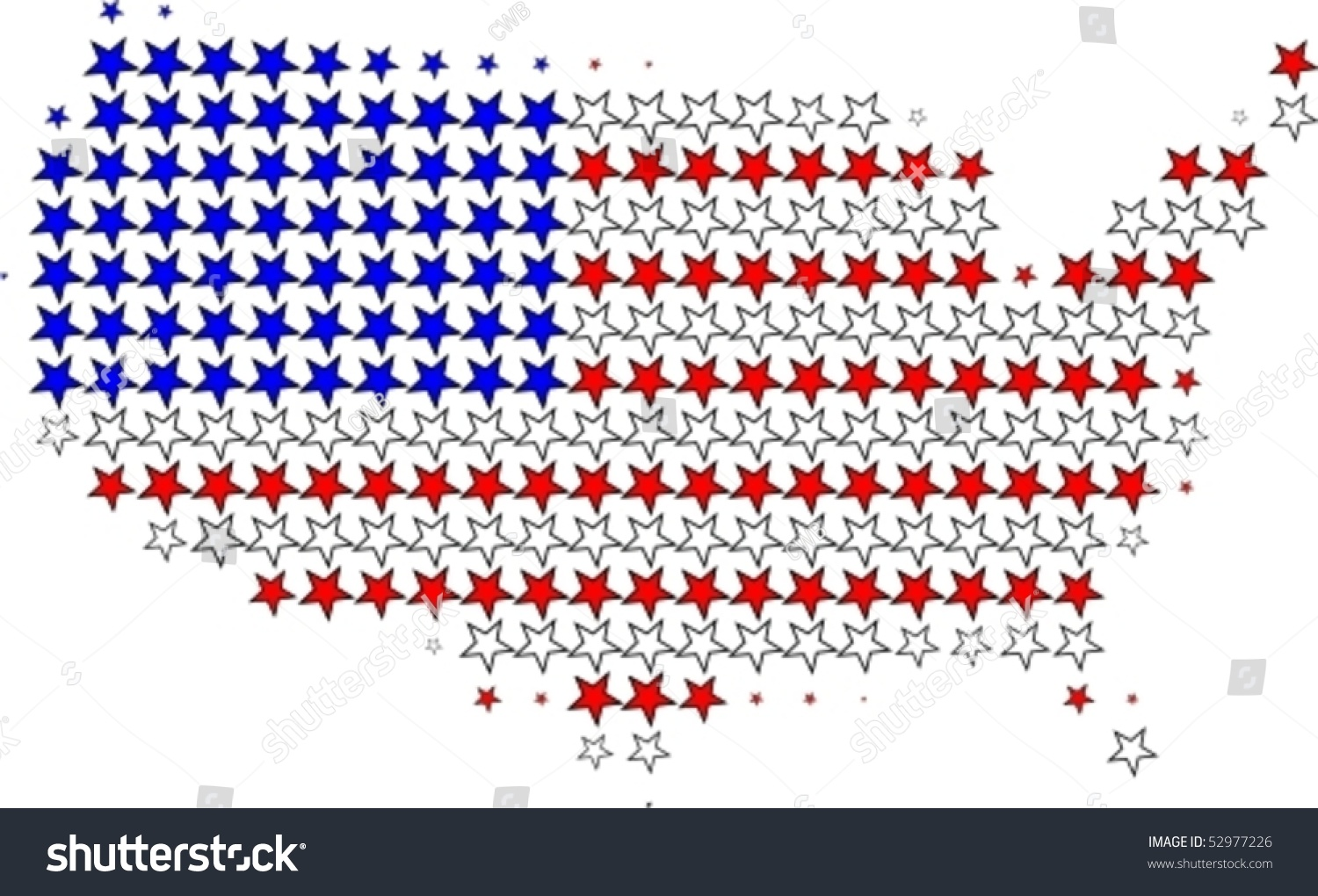 us flag map outline graphic