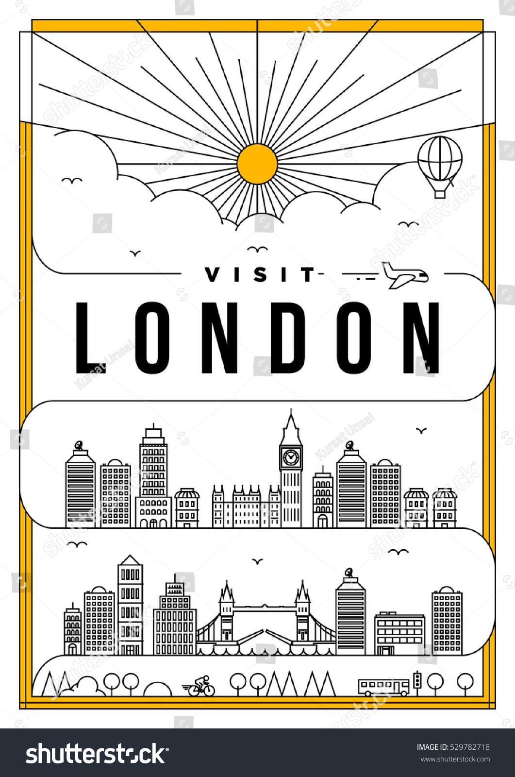 Poster design london - Linear Travel London Poster Design