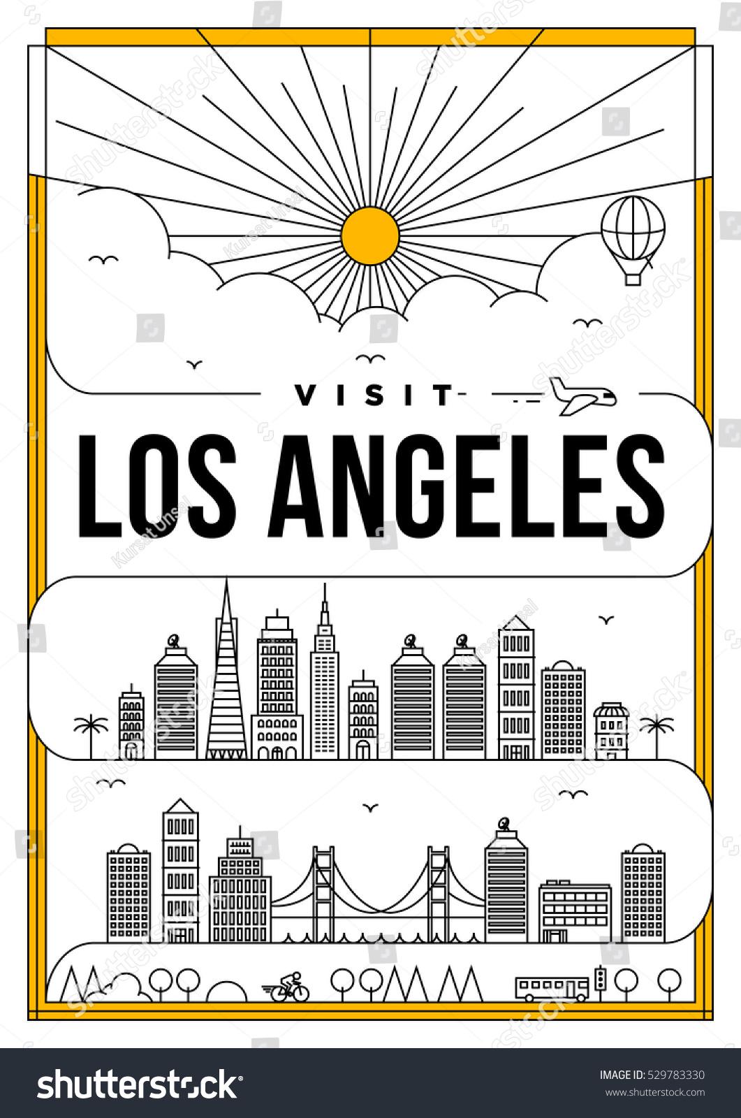 D d poster design - Linear Travel Los Angeles Poster Design