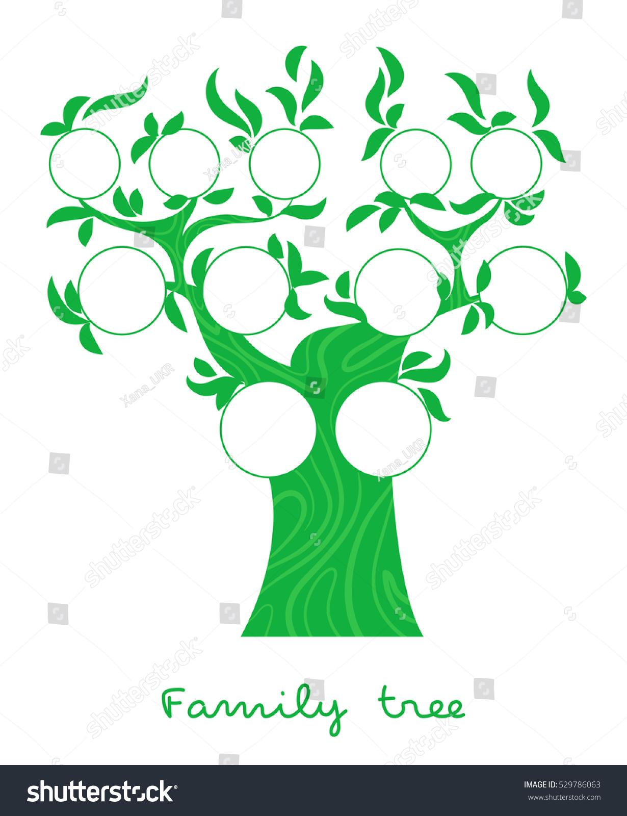 Family Tree Chart Genealogical Tree Forfamily Stock Vector Royalty