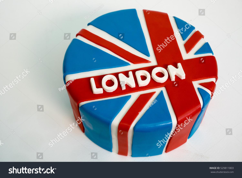 Handmade english british flag sugar fondant stock photo 529811803 handmade english british flag sugar fondant pound cake with white capital letter london buycottarizona Images