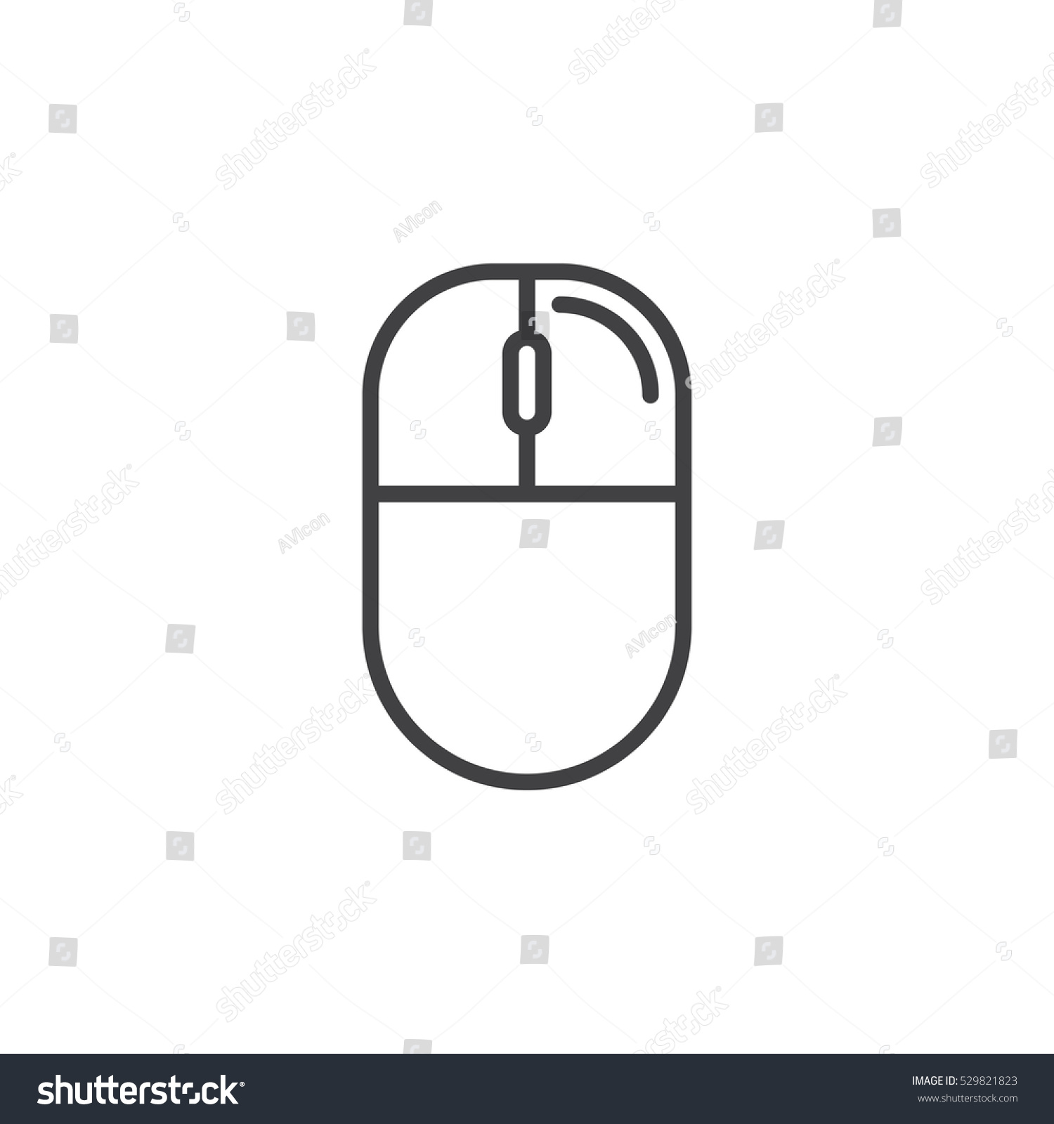 Pleasing Computer Mouse Right Click Line Icon Stock Vektorgrafik Lizenzfrei Wiring 101 Orsalhahutechinfo