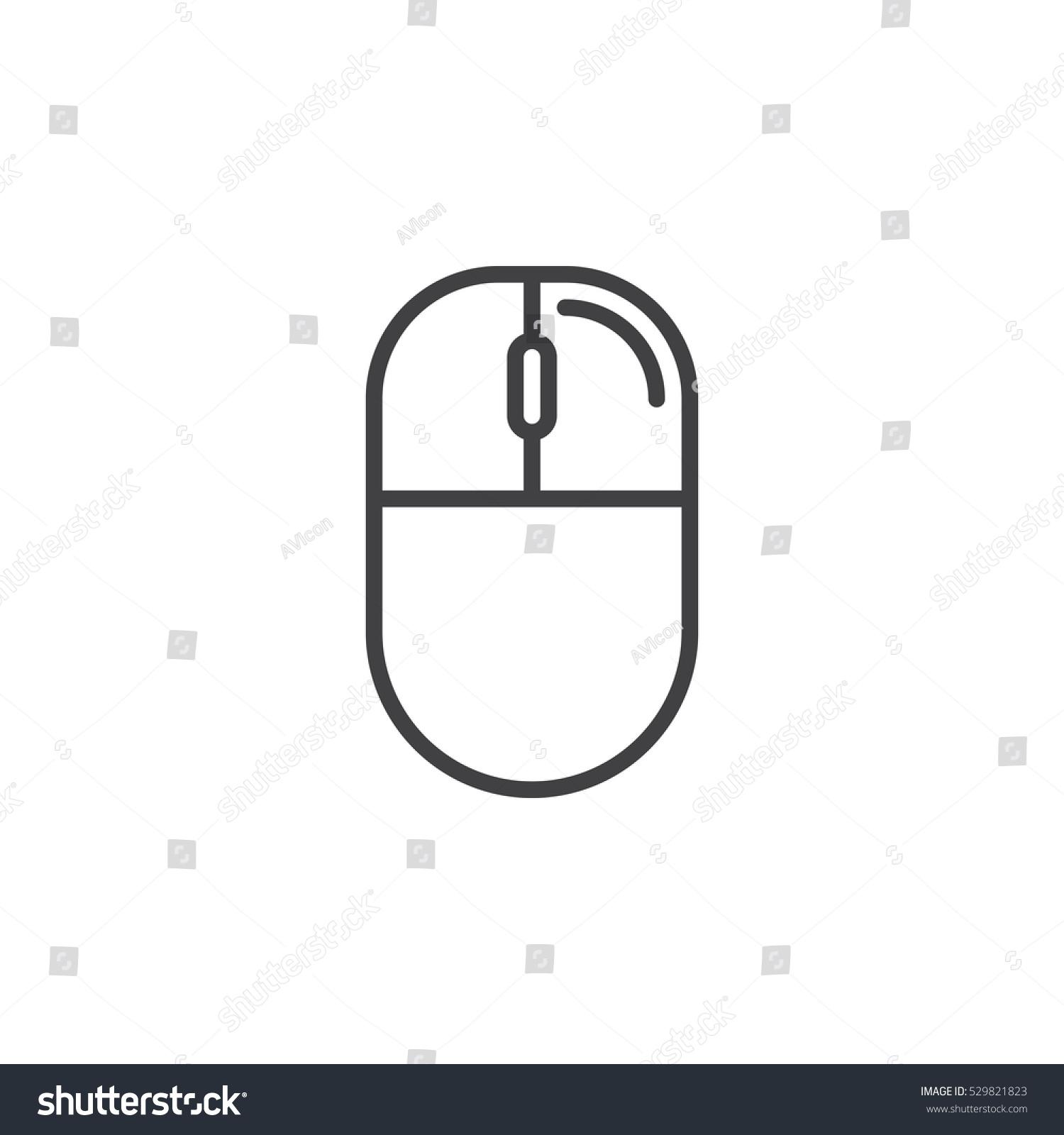 Peachy Computer Mouse Right Click Line Icon Stock Vektorgrafik Lizenzfrei Wiring 101 Ariotwise Assnl