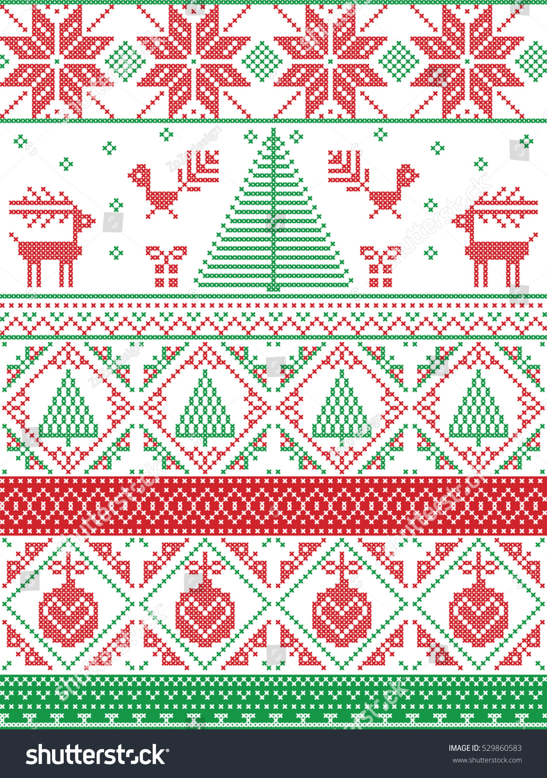 Norwegian Christmas.Scandinavian Inspired By Norwegian Christmas Festive Stock